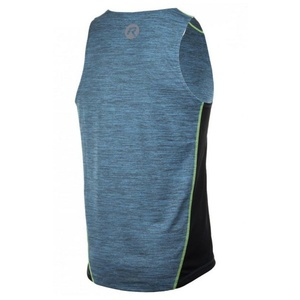 Men functional top Rogelli GRAVITY, turquoise streak-reflective yellow 830.243., Rogelli