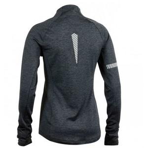 Women hoodie Salming Phase Halfzip Women Dark Grey Melange, Salming