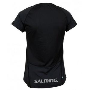 Women shirt Salming Laser Tee Women Black Melange, Salming