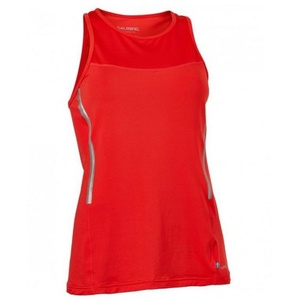 Women top Salming Laser Tank Women Poppy Red Melange, Salming