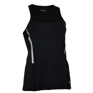 Women top Salming Laser Tank Women Black Melange, Salming