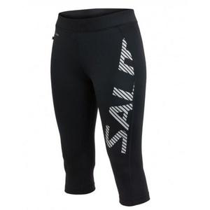 shorts Salming Capri Logo Tights Women Black / Silver Reflective, Salming
