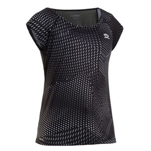 Women shirt Salming Breeze Top Women Black AOP, Salming