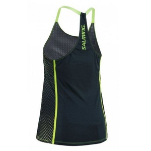 Women top Salming Breeze Tank Women Deep Teal AOP / Sharp Green, Salming