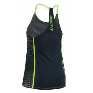 Women top Salming Breeze Tank Women Deep Teal AOP / Sharp Green, Salming