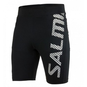 shorts SALMING Power Logo Tights Men Black / Silver Reflective, Salming