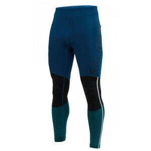 Men leggings Salming Grand Tights Men Posiedon Blue / Black Teal, Salming