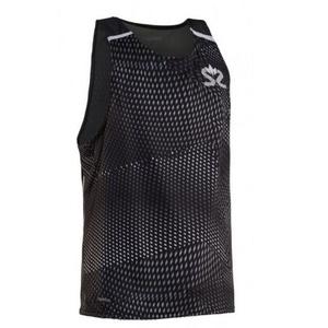 Men shirt Salming Breeze Tank Men Black AOP / Black Melange, Salming