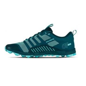 Shoes Salming OT Comp Women Deep Teal / Aruba Blue, Salming