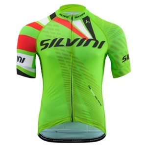 Men cycling jersey Silvini TEAM MD1400 green, Silvini