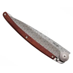 Pocket knife Deejo 1CB042 Tattoo illusion 37g, coralwood, Deejo