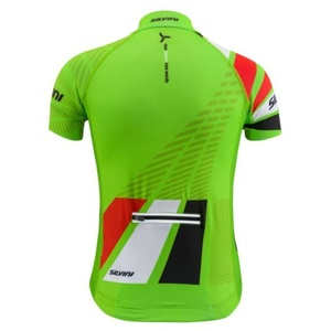 Children cycling jersey Silvini Team CD1435 green-red, Silvini