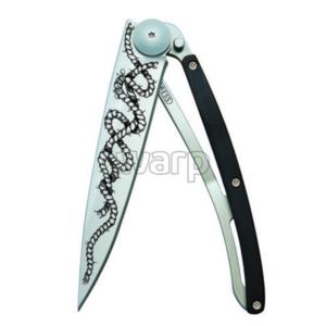Pocket knife Deejo 1CB045 Tattoo 37g ebony wood, Rope, Deejo