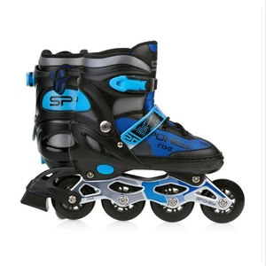 Spokey RISE Roller skates adjustable, ABEC 7 Carbon black and blue, size. 39-43, Spokey