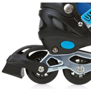 Spokey RISE Roller skates adjustable, ABEC 7 Carbon black and blue, size. 39-43, Spokey