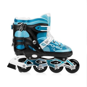 Spokey RISE Roller skates adjustable, ABEC 7 Carbon turquoise, size. 39-43, Spokey