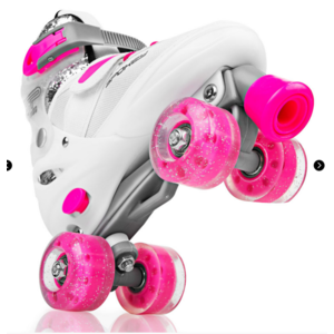 Spokey BUFF Trekking skates adjustable, ABEC 5, white-pink, size. 39-42