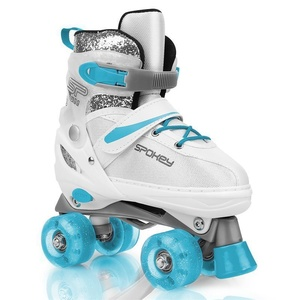 Spokey BUFF Trekking skates adjustable ABEC 5, white-turquoise, size. 31-34