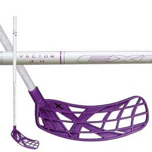 Floorball stick EXEL VECTOR WHITE 3.4 87 ROUND SB, Oxdog
