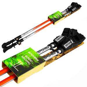 Spokey TIERRA Hole Nordic Walking 2-dílné, Easy click glove system, black-orange, Spokey