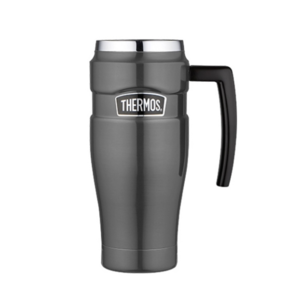 Waterproof thermo mug with handler Thermos Style metalicky grey 160035, Thermos