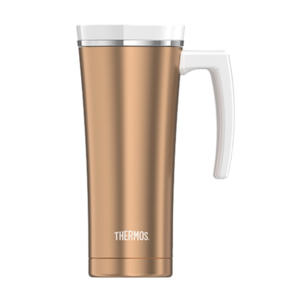 Waterproof thermo mug with handler Thermos Style pink-gold 160052, Thermos