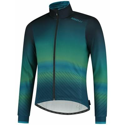 Ultralight cycling jacket Rogelli SOUL, blue-green 003.418