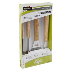 BBQ tools Cattara WOOD set 3ks, Cattara