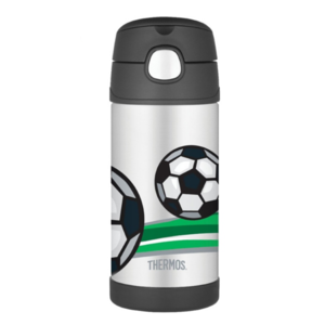 Children thermos with with a straw Thermos Funtainer football, Thermos