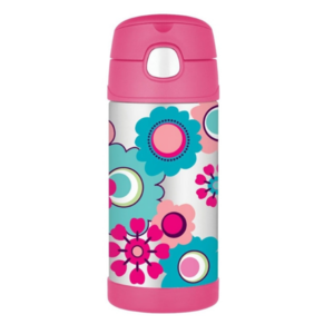 Children thermos with with a straw Thermos Funtainer flowers, Thermos