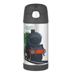 Children thermos with with a straw Thermos Funtainer train, Thermos