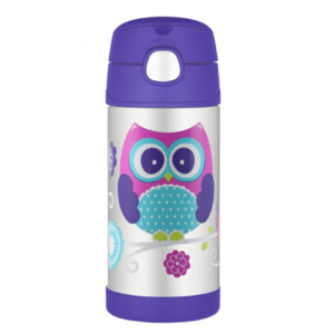 Children thermos with with a straw Thermos Funtainer owl, Thermos
