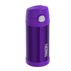 Children thermos with with a straw Thermos Funtainer purple, Thermos