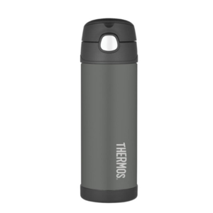 Children thermos with with a straw Thermos Funtainer black, Thermos