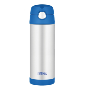 Children thermos with with a straw Thermos Funtainer blue 470ml 120022, Thermos