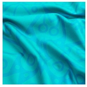 Spokey MANDALA Quick-drying beach towel turquoise 80x160cm, Spokey