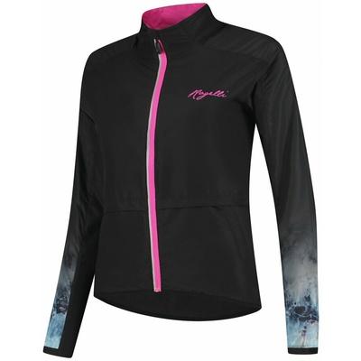 Women running anorak Rogelli MARBLE, black-pink 840.852