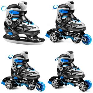 Skates Spokey QUATUTRO 4IN1 black and blue, adjustable, Spokey