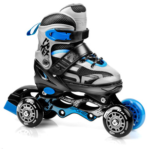 Skates Spokey QUATUTRO 4IN1 black and blue, adjustable, Spokey