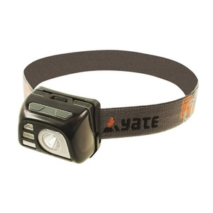 Headlamp Yate Vega Aku, black SE00048, Yate