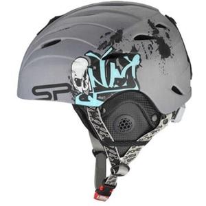 Spokey ALBERTA ski helmet grey with graffiti size. M, Spokey