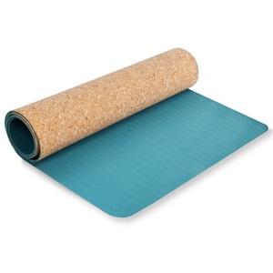 Mat to exercise Spokey SAVASANA cork turquoise 3 mm, Spokey