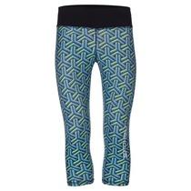 Fitness 3/4 leggings Spokey PRATO blue-green, Spokey