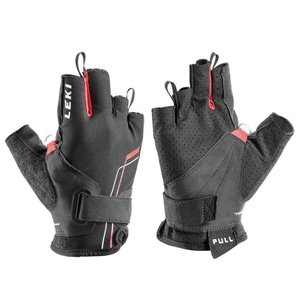 Gloves LEKI Nordic Breeze Shark Short 649703302 black / red / white, Leki