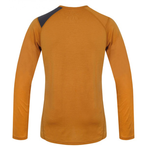 Men merino shirt Husky Wolf brown-orange, Husky