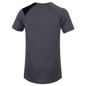 Men merino shirt Husky Dog grey, Husky
