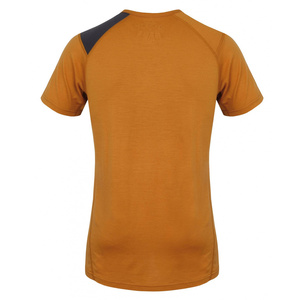 Men merino shirt Husky Dog brown-orange, Husky