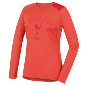 Merino functional underwear T-Shirt long women Sheep peach, Husky