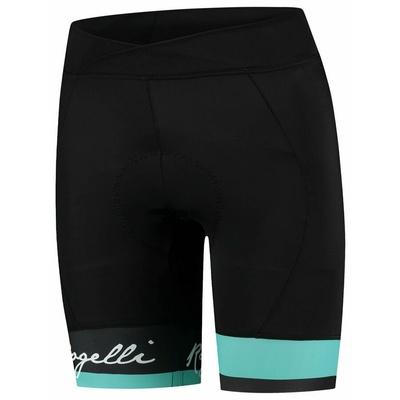 Women cyklokraťasy Rogelli SELECT with gel lining, black-turquoise 010.248, Rogelli