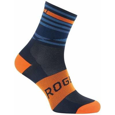 Design functional socks Rogelli STRIPE, orange-blue 007.205, Rogelli